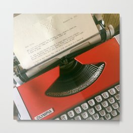 Typed words Metal Print