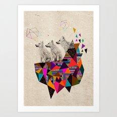 The Night Playground by Peter Striffolino and Kris Tate Art Print