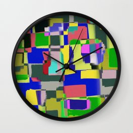 Raw Paint 3 - Colour Abstract Wall Clock