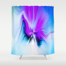 Abstract Moving Butterfly Design Shower Curtain