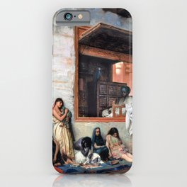 Jean-Leon Gerome - The Slave Market - Digital Remastered Edition iPhone Case