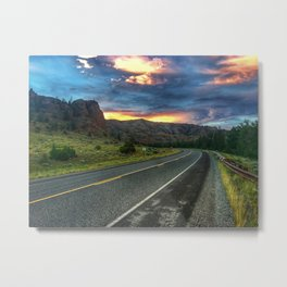 North Fork Hwy Sunset Metal Print
