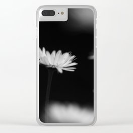 White daisys in the Black Clear iPhone Case