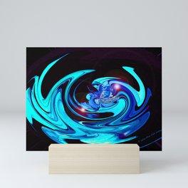 """""""Cut Blue Diamond""""  Mini Art Print"""