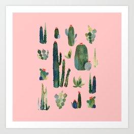 cactus pink new version! Art Print