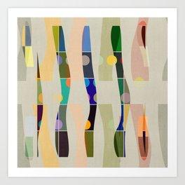COLOR BLOCK LINEN #4 Art Print