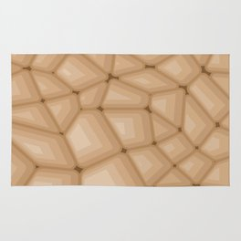 BROWN STONE Abstract Art Rug