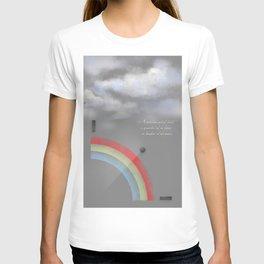 A quarter rainbow T-shirt
