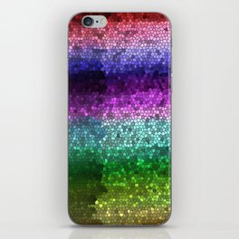 Rainbow Mosaic Stained Glass iPhone Skin