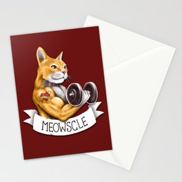 Meowscle Stationery Cards
