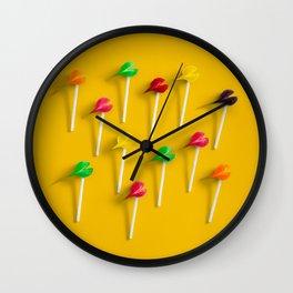 disparate hues 3 Wall Clock