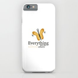 WISE BUTTERFLY iPhone Case