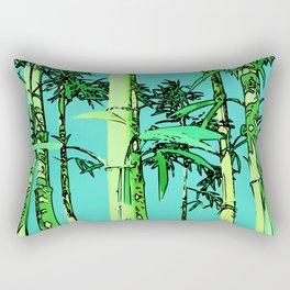 Bamboo cartoonized Rectangular Pillow