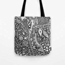 Aztec B&W (Handmade) Tote Bag
