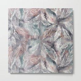 Mojave Feathers Metal Print