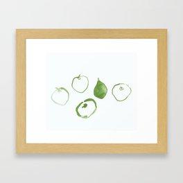 Pommes - Olive Framed Art Print