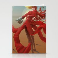 guns Stationery Cards featuring Tri Guns by Sempaiko