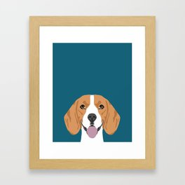 Lenon - Beagle gifts for pet owners and dog person with a beagle Framed Art Print