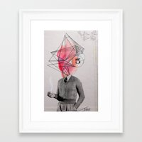 architect Framed Art Prints featuring the architect by LouiJoverArt