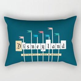 Theme Park Entrance | Navy Rectangular Pillow