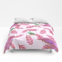 Flamingo rose Comforters