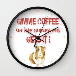 Gimme Coffee Wall Clock