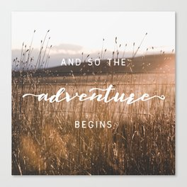 And So The Adventure Begins - Rustic Western Canvas Print