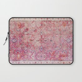 N45 - Pink Vintage Traditional Moroccan Boho & Farmhouse Style Artwork. Laptop Sleeve