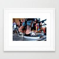 vans Framed Art Prints featuring VANS by samwouldwhat
