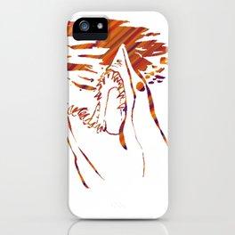 transparent red mako shark iPhone Case