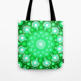 Emerald Mandala Tote Bag