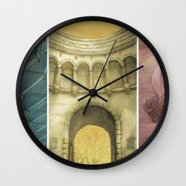 Bufallo Bridge Triptych Wall Clock