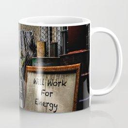 Will Work For Energy Coffee Mug