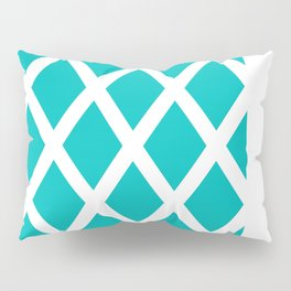Turquoise Diamonds Pillow Sham