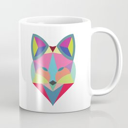 Colourful Geometric Fox Coffee Mug
