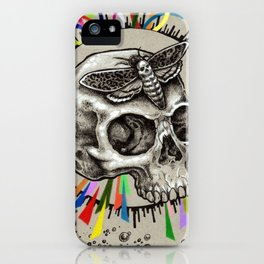 Skull and Hawkmoth iPhone Case