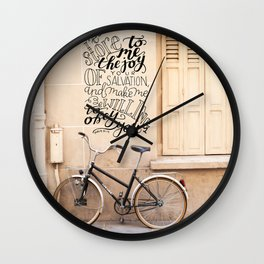 The Joy of Your Salvation     Psalm 51:12 Wall Clock
