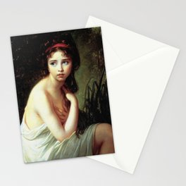 Louise Élisabeth Vigée Le Brun - Julie Le Brun as a Bather Stationery Cards