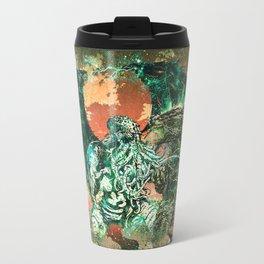 Cthulhu vs Godzilla Travel Mug