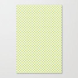 Yellow Lemon Green Fruit Pattern Canvas Print