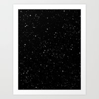 stars Art Prints featuring Stars by Jorge Lopez