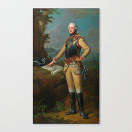 Johann Heinrich Tischbein the Elder (Haina 1722–1789 Kassel) Portrait of Louis Gaucher, Duc de Chati Canvas Print