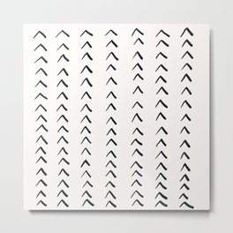 MOD_TinyRowsofArrowsLight_Charcoal Metal Print