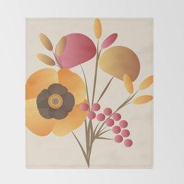 Memorable Florals Throw Blanket