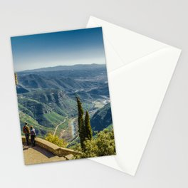 Spanish landscape in Montserrat mountains Stationery Cards
