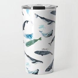cetacean pattern Travel Mug