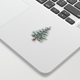 Christmas tree with red balls Sticker