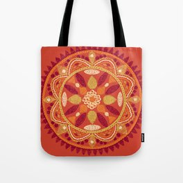 Jaipur Medallion Saffron Tote Bag