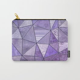 Purple Lilac Glamour Shiny Shimmering Patchwork Carry-All Pouch