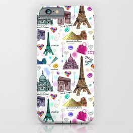 Voyage à Paris (Watercolor) iPhone Case